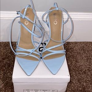 NWT Ego Official Pastel Blue heels
